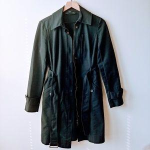 INC International Concepts Black Trench Coat
